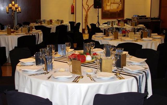 Cena de empresa de navidad en restaurante de lujo en Barcelona