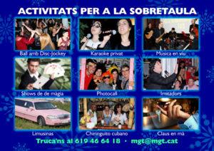 sopar amb karaoke i ball a Barcelona